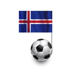 Soccer balls or footballs with flag of iceland vector