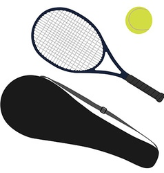 Tennis ball tennis racket racket cover vector