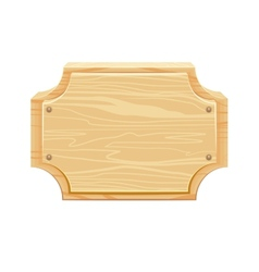 Wooden signboard with rounded corners vector