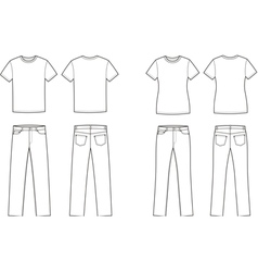T shirt and jeans vector