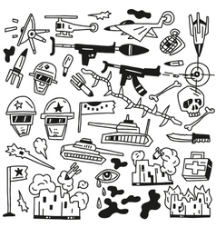 War doodles vector