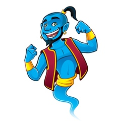 Blue genie vector
