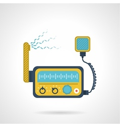 Radio transceiver flat icon vector