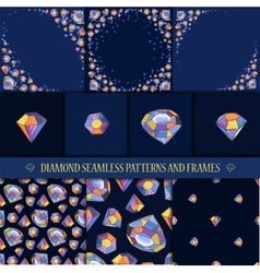 Glamour diamond background vector