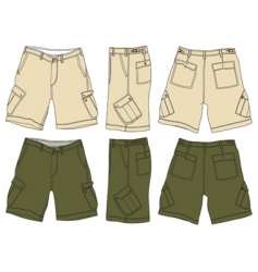 Men cargo shorts vector