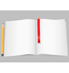 Blank pages with pencil vector