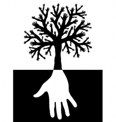 Tree of hands vector