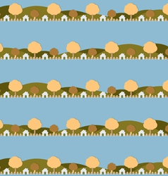 Country side life pattern vector