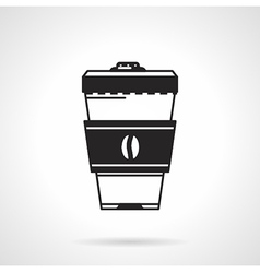 Takeaway coffee black icon vector