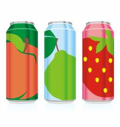 Juice cans vector