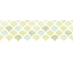 Abstract textile green fishscale horizontal vector