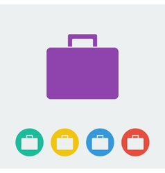 Bag flat circle icon vector