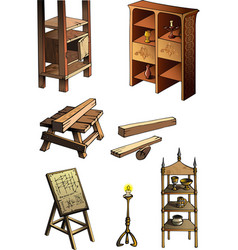 Evolution of furniture vector
