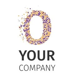 Alphabet particles logotype letter-o vector