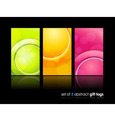 Gift cards backgrounds vector