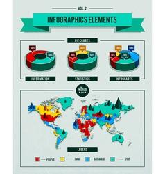 Set of infographics elements vector