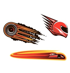 Racing sport elements and icons vector