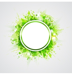Green abstract shining round background vector