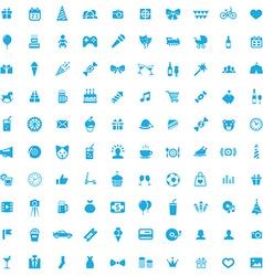 100 birthday icons vector