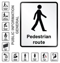 General information signs vector