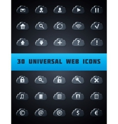 Universal cloud web icons vector