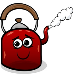 Kettle and steam cartoon vector