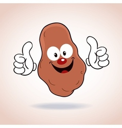 Potato mascot cartoon character vector