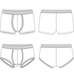 Blank male underwear vector