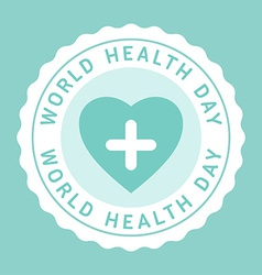 Vintage world health day celebrating card or vector