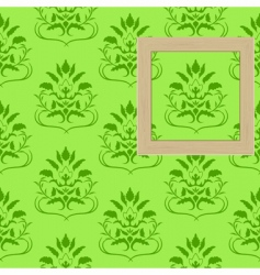 Framework for photos on wallpaper vector