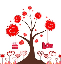 Valentines love tree vector