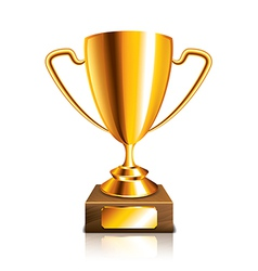 Object golden trophy vector