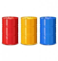 Color barrels vector