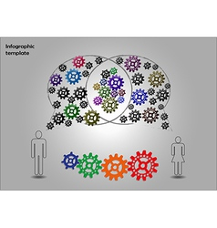 Teamwork infographics vector