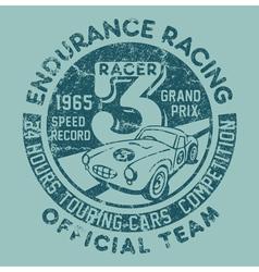 Endurance racing team vector
