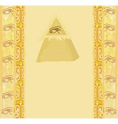 Ancient pyramid eye design vector