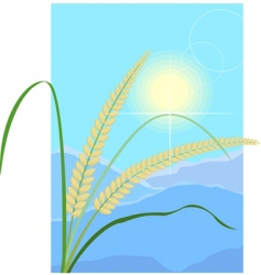 Grain and cereal products vector