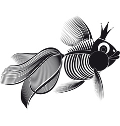 Skeleton goldfish vector