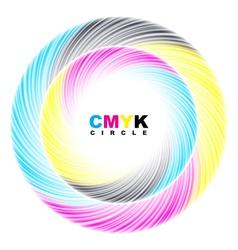 Abstract cmyk circle vector