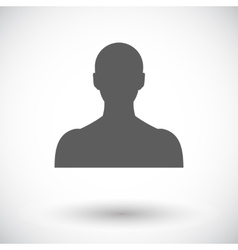 Person single icon vector