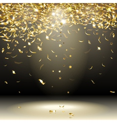 Gold confetti vector