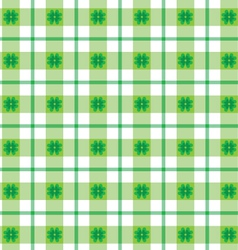 St patricks day plaid vector