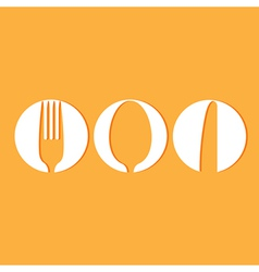Restaurant menu design whit cutlery symbols vector