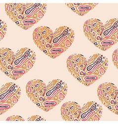 Valentines seamless abstract pattern with hearts vector