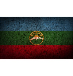 Flag of karachay-cherkessia republic russia with vector