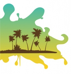Tropical retreat on splash vector
