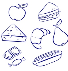 Set a morning meal vector