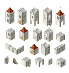 Medieval buildings vector