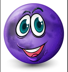 A ball with a smiling face vector