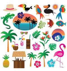 Tropical clipart vector